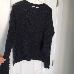 Kimchi Blue navy cropped sweater. Size S
